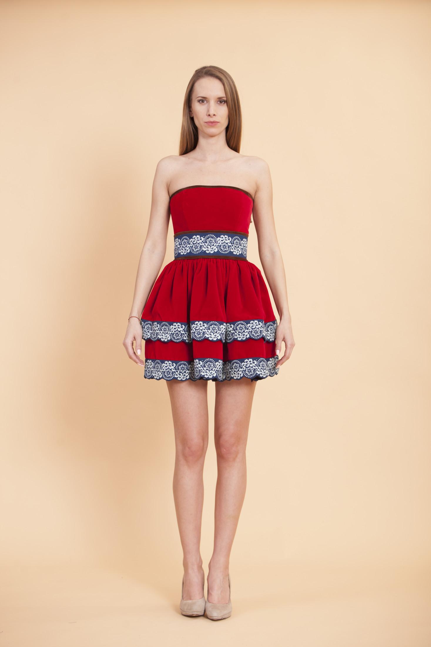 Zamatové šaty True Blue JG - JANA GAVALCOVA 4bd8e767745