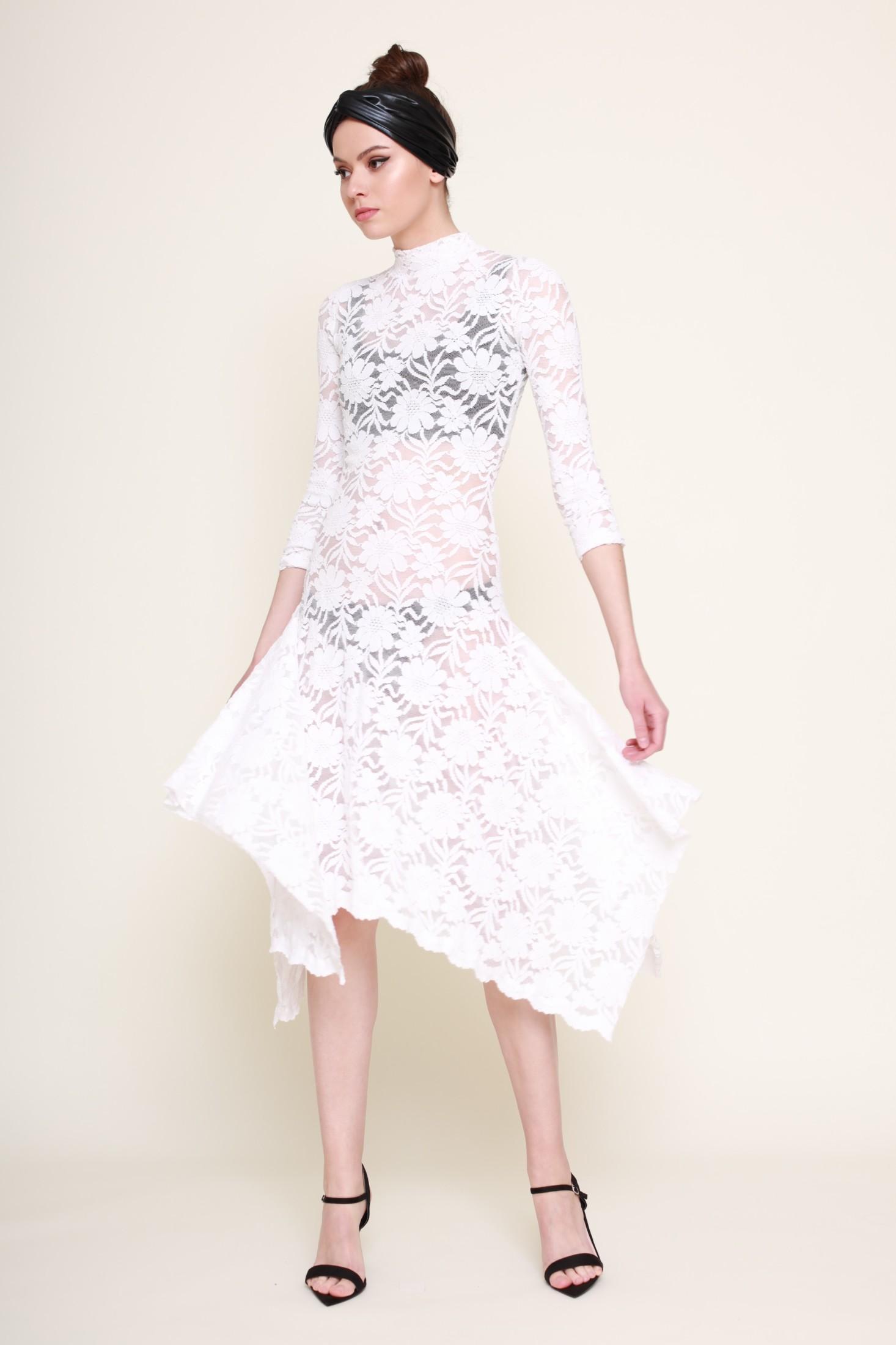 1aaec21f1dc6 Domov   Kolekcia RTW Jar Leto 2019   Biele krajkové elastické šaty